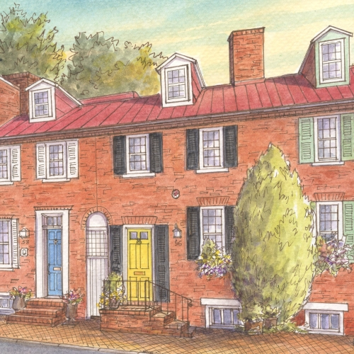 Historic house portrait: Annapolis, MD