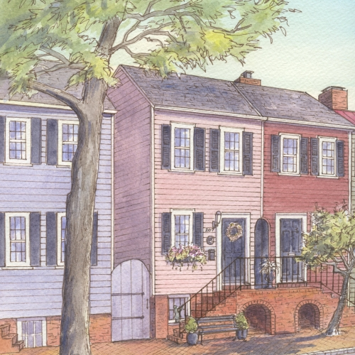 Historic house portrait: Old Town, Alexandria, VA