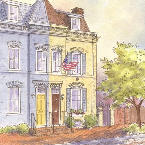 Historic house portrait: Old Town, Alexandria, VA