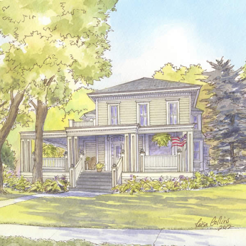 Historic house portrait: Traverse City, MI