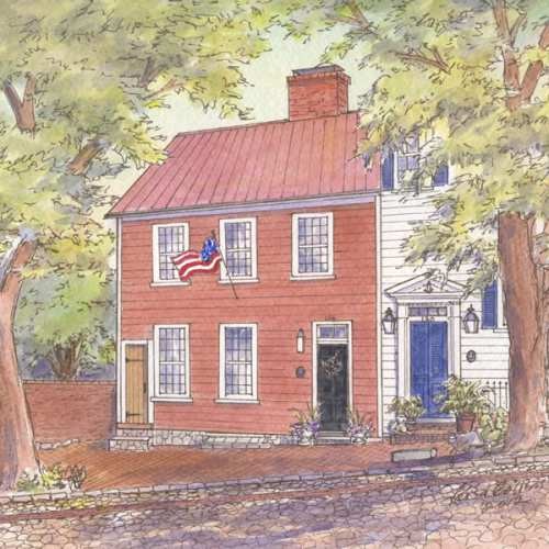 Historic house portrait: Alexandria, VA