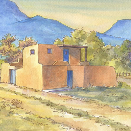 Historic house portrait: Taos, NM