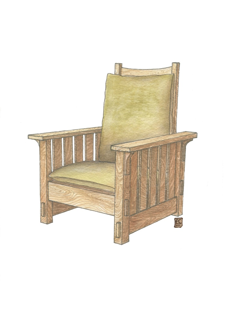 Arts And Crafts Furniture Series Morris Style Chair Leisa Collins Art