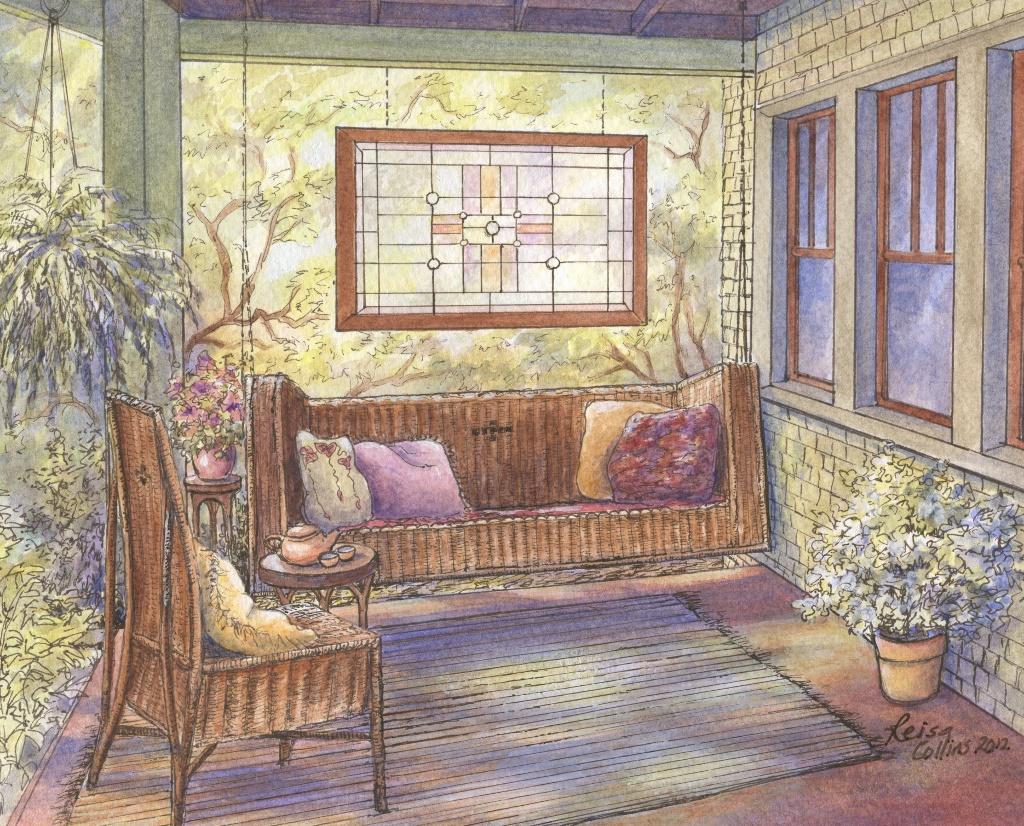 Arts And Crafts Series Dream Porch Leisa Collins Art