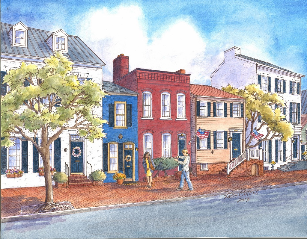 Smallest House In Old Town Alexandria Va Leisa Collins Art