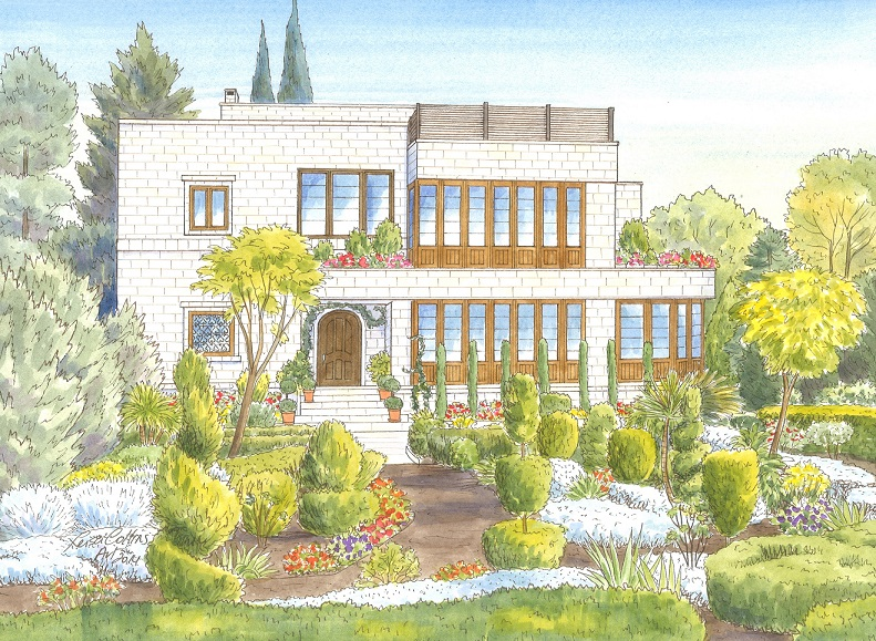 What does a House Portrait in Jordan look like?