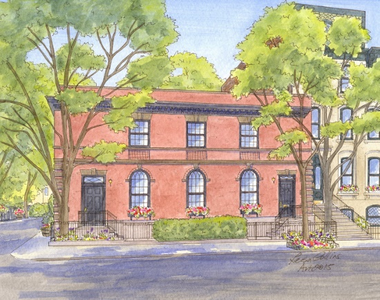 Architectural paintings of Historic Brooklyn, NY