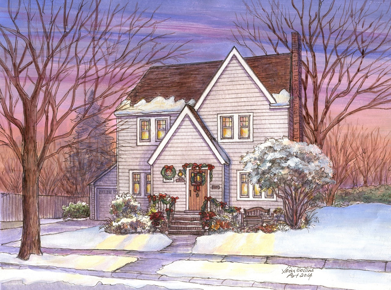 Winter Home Watercolors