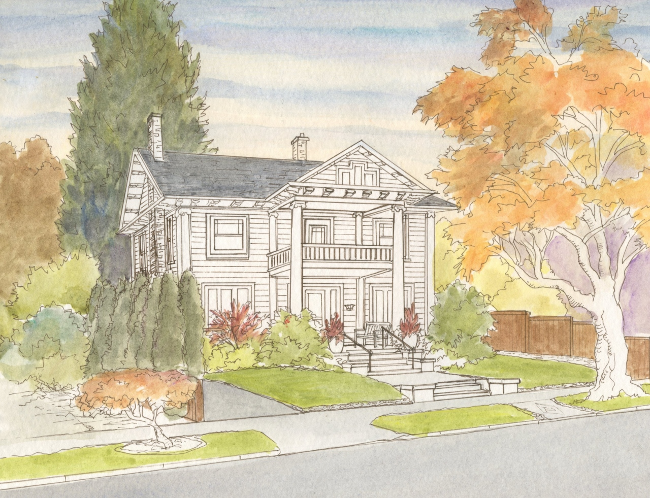 The six steps i take to create a house portrait leisa for Steps to start building a house